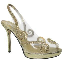 Women's J. Renee Sienna Gold Reptile Prints/Vinyl