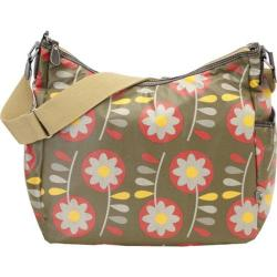 Women's OiOi Diaper Bags Retro Floral Hobo Green