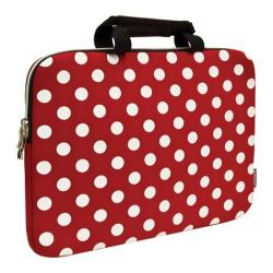 Sumdex NeoArt Printed Neoprene Sleeve - 14.1in Red/White Dots