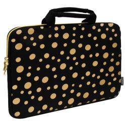 Sumdex NeoArt Printed Neoprene Sleeve - 16in Black/Gold Dots