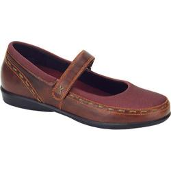Women's Aetrex Berries Mary Jane Cranberry Stretch Fabric/Leather