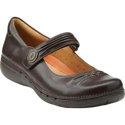 Women's Clarks Un.Linda Dark Brown Leather