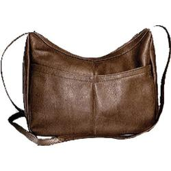 Women's David King Leather 1034 Top Zip Hobo Cafe