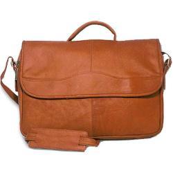 David King Leather 113 Porthole Briefcase Tan