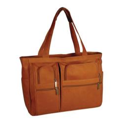 David King Leather 147 Womens Multipocket Briefcase Tan
