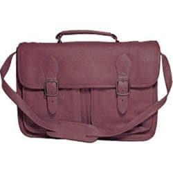 David King Leather 165 Top Handle Flap Over Portfolio Triple Gusset Cafe