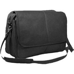 David King Leather 194 Expandable Messenger Bag Black