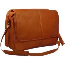 David King Leather 194 Expandable Messenger Bag Tan