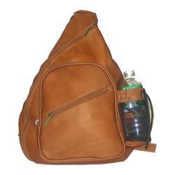 David King Leather 318 Backpack Style Cross Body Bag Tan