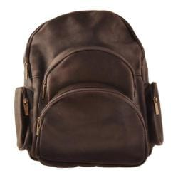 David King Leather 322 Expandable Backpack Cafe