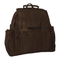 David King Leather 329 Top Handle Backpack Cafe