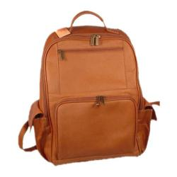 David King Leather 352 Large Computer Backpack Tan