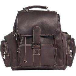 David King Leather 8330 Deluxe Top Handle XL Backpack Cafe