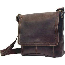 David King Leather 6188 Messenger Bag Brown