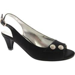Women's David Tate Party Black Satin