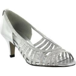 Women's Easy Street Sparkle Easy Flex Silver Glitter/Silver