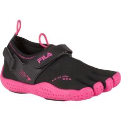 Children's Fila Skele-Toes EZ Slide Drainage Black/Hot Pink