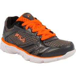 Children's Fila Stoked Dark Silver/Black/Shocking Orange