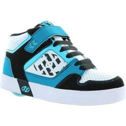 Boys' Heelys Stripes Black/Cyan/Sea Blue/White