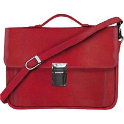 Scully Leather Travel Tote Italian Leather 739A Red/Black