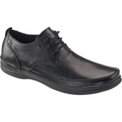 Men's Aetrex Ventures Collection Dale Classic Lace-Up Black Leather