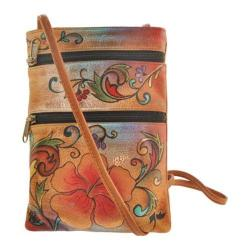 Women's Anuschka Mini Double Zip Travel Crossbody Henna Floral