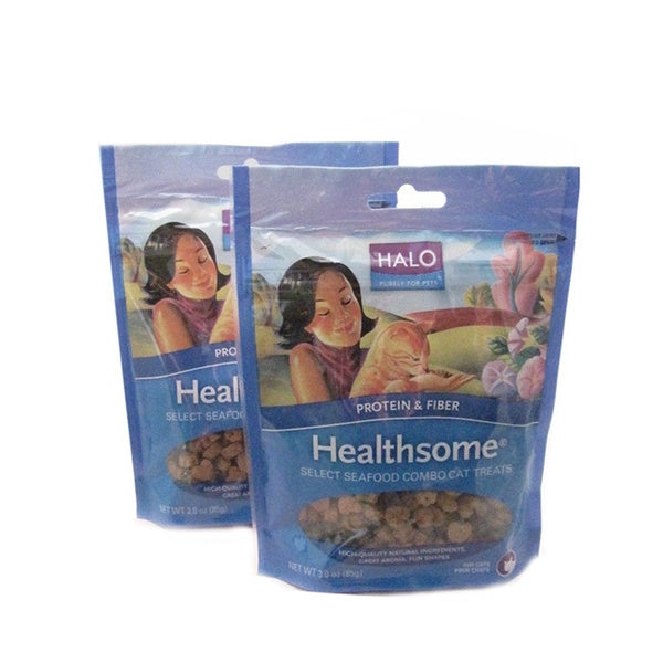 Halo Healthsome Select Seafood Combo Cat Treats (Pack of 2)
