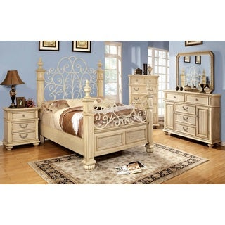 'Waldenburg' Luxurious Antique White 5-piece Queen Bedroom Set