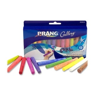 Prang Ambrite Assorted Colors Paper Chalk (Set of 12)
