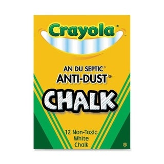 Crayola Nontoxic Anti-dust Chalk (Pack of 12)