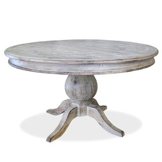 39 la france 39 pedestal dining table overstock shopping for Distressed round dining table