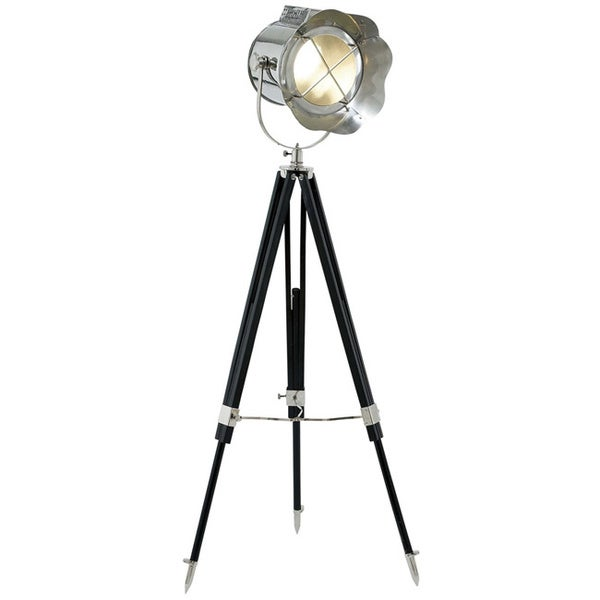 casa cortes loft obsession black 1 light floor lamp