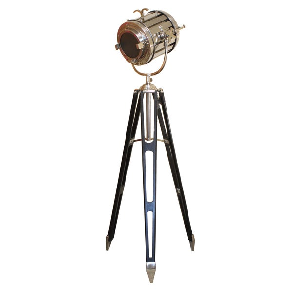 hollywood studio director 39 s royal spot light tripod floor lamp. Black Bedroom Furniture Sets. Home Design Ideas