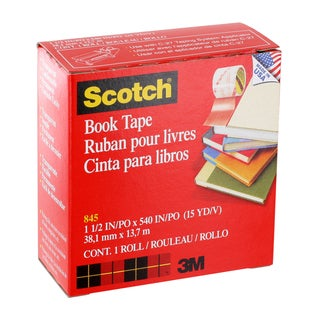 "Scotch Book Repair Tape, 1-1/2"" x 540"", Clear, Each (845112)"