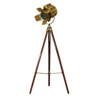 Hollywood Director's Adjustable Aluminum Spot Light Tripod Floor Lamp