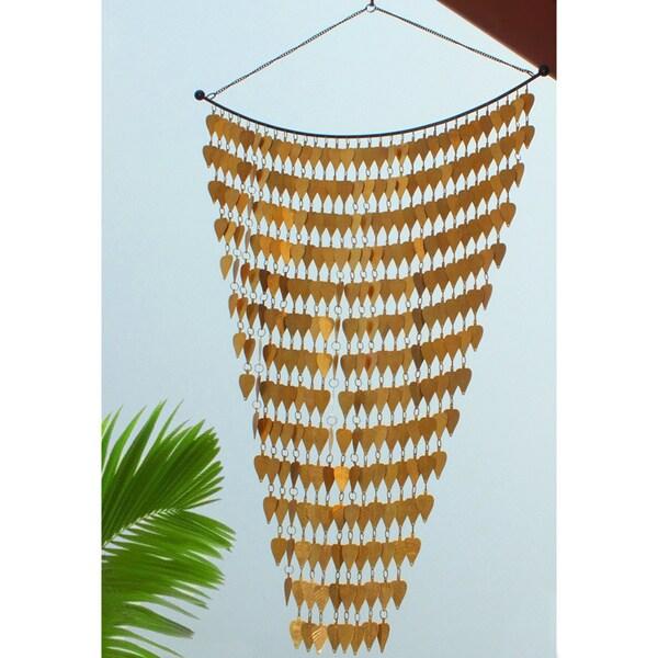 Monarch Brass Tinkling Leaves Wind Art