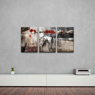 Alexis Bueno 'Abstract' Canvas Wall Art (3-piece Set)
