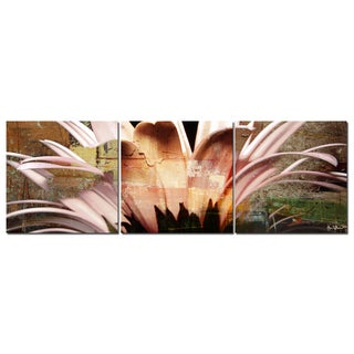 Alexis Bueno 'Daisy' Oversized Abstract Canvas Wall Art (3-Piece)