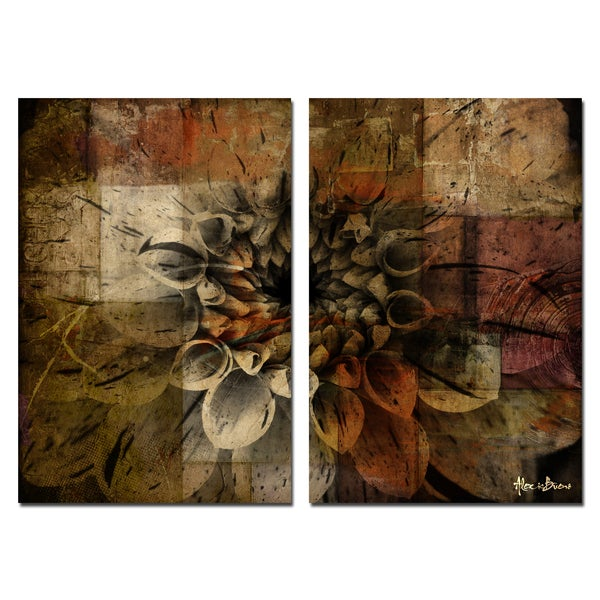 Alexis Bueno Daisy 2 Piece Oversized Abstract Canvas Wall Art