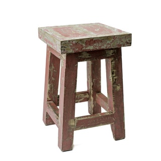 Reclaimed Teak Square Cantina Stool (Indonesia)
