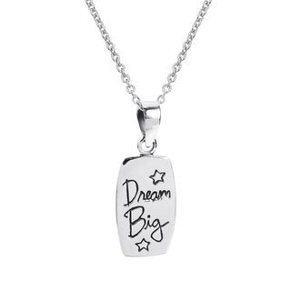 Inspirational 'Dream Big' Message .925 Silver Necklace (Thailand)