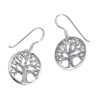 Immortal Tree of Life .925 Sterling Silver Dangle Earrings (Thailand)