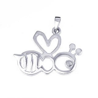 Charming Cut Out Bumble Bee Sterling Silver Pendant (Thailand)