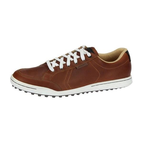 Ashworth Men's Cardiff Tan Brown/ Black/ Gum Golf Shoes