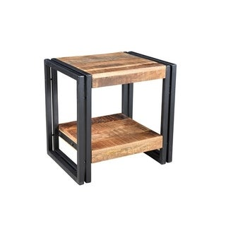 Handcrafted Reclaimed Wood Side Table (India)