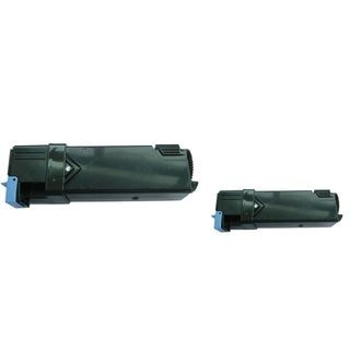 BasAcc Black Toner Cartridge Compatible with Xerox Phaser 6128 (Pack of 2)
