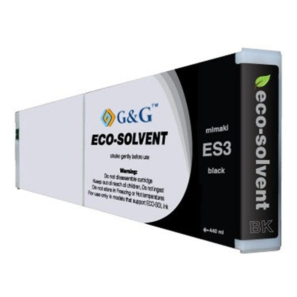 INSTEN Black Eco-Solvent Ink Cartridge for Mimaki ES3