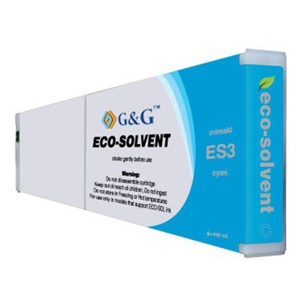 INSTEN Cyan Eco-Solvent Ink Cartridge for Mimaki ES3