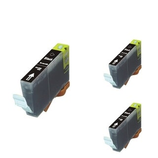 BasAcc Black Cartridge Set Compatible with Canon BCI-5 (Pack of 3)