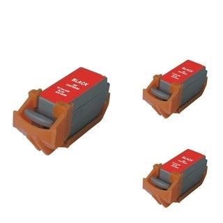 INSTEN Black Cartridge Set for Canon BCI-11B (Pack of 3)
